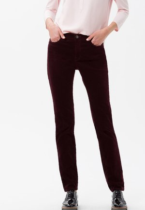 STYLE MARY - Trousers - cranberry