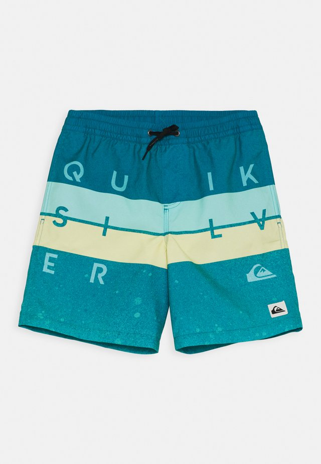 WORD BLOCK VOLLEY YOUTH - Swimming shorts - fjord blue