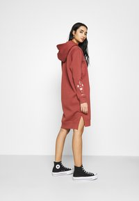 G-Star - GRAPHIC TEXT BF HOODED - Strikket kjole - cinnamon red - 2