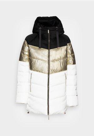 IMBOTTITO OVATT LUNG - Winter coat - snow white/nero