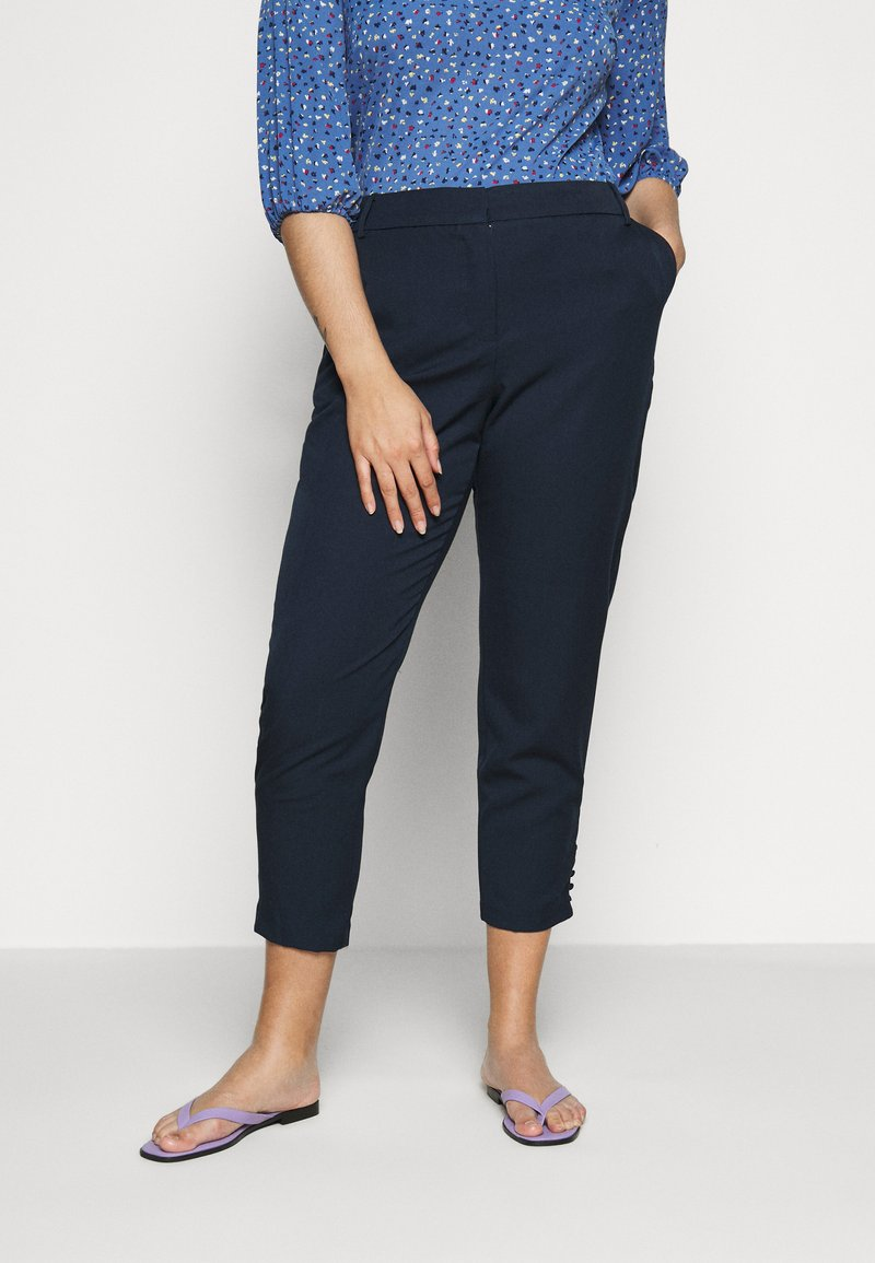 JUNAROSE - by VERO MODA - JRGENTA TAILORED ANKLE PANTS - Trousers - navy blazer