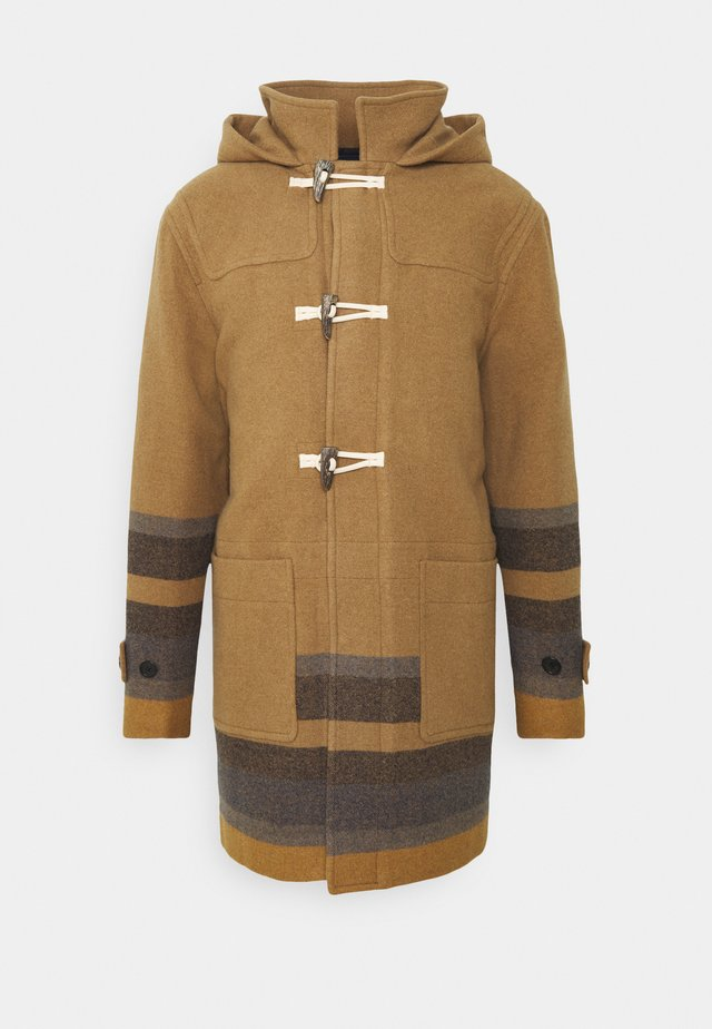 MENS DUFFLE COAT - Wollmantel/klassischer Mantel - camel/blue