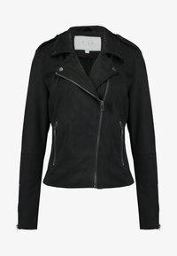 Vila - VIFADDY JACKET - Faux leather jacket - black - 3