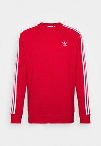 adidas Originals - 3 STRIPES CREW UNISEX - Sweatshirt - scarle - 0