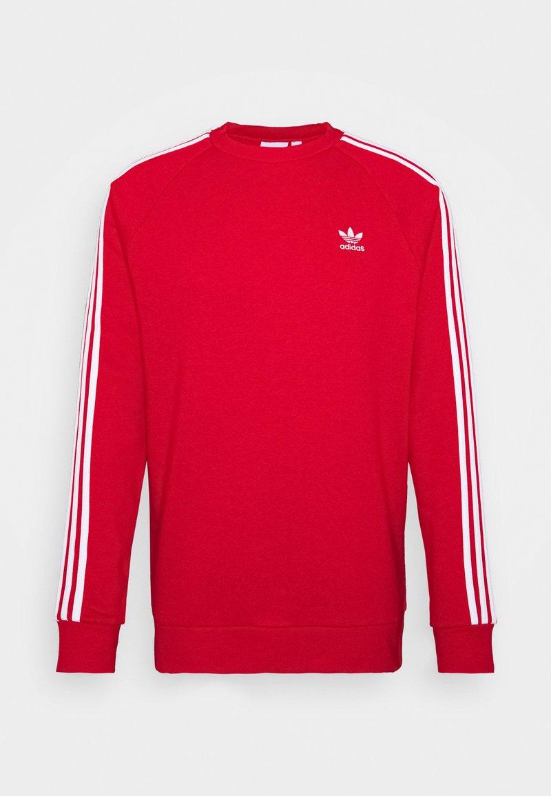 adidas Originals - 3 STRIPES CREW UNISEX - Sweatshirt - scarle