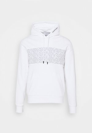 TRANSPARENT LOGO HOODIE - Sweater - white