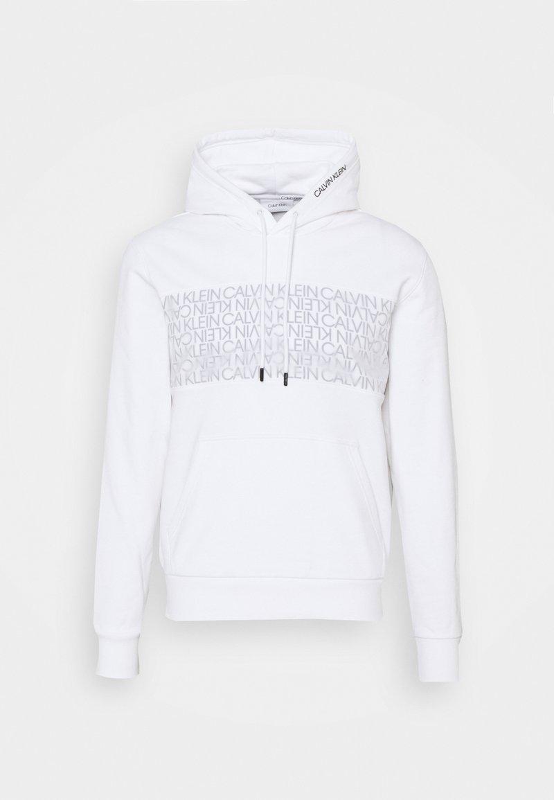 Calvin Klein - TRANSPARENT LOGO HOODIE - Sweater - white