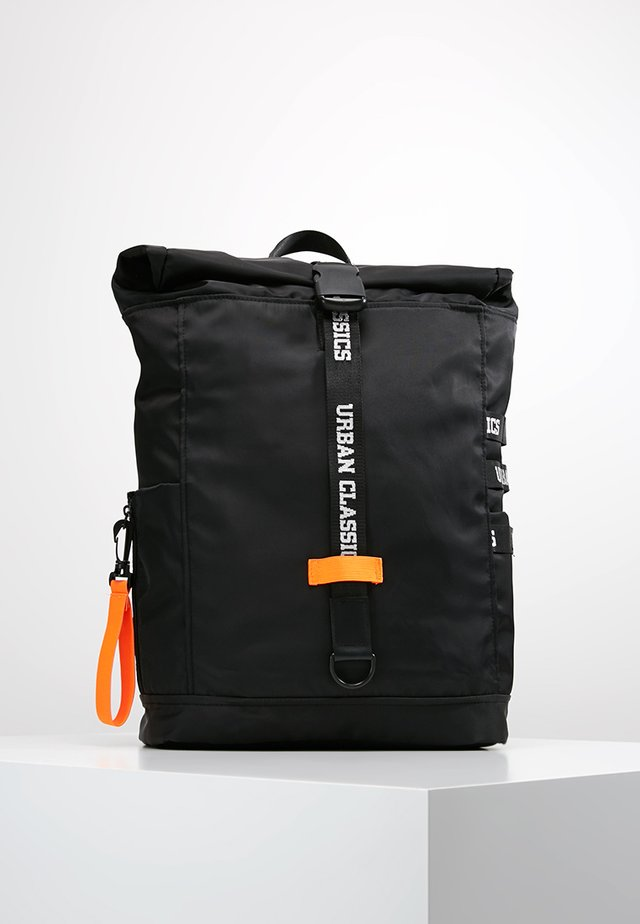 BACKPACK - Tagesrucksack - black/neonorange
