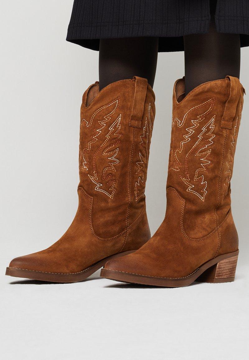 mtng - TEO - Cowboy/Biker boots - brown