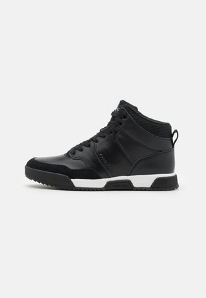TOP LACE UP MIX - Sneakersy wysokie - black