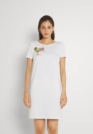 VITINNY FLOWER DETAIL DRESS - Jersey dress - snow white