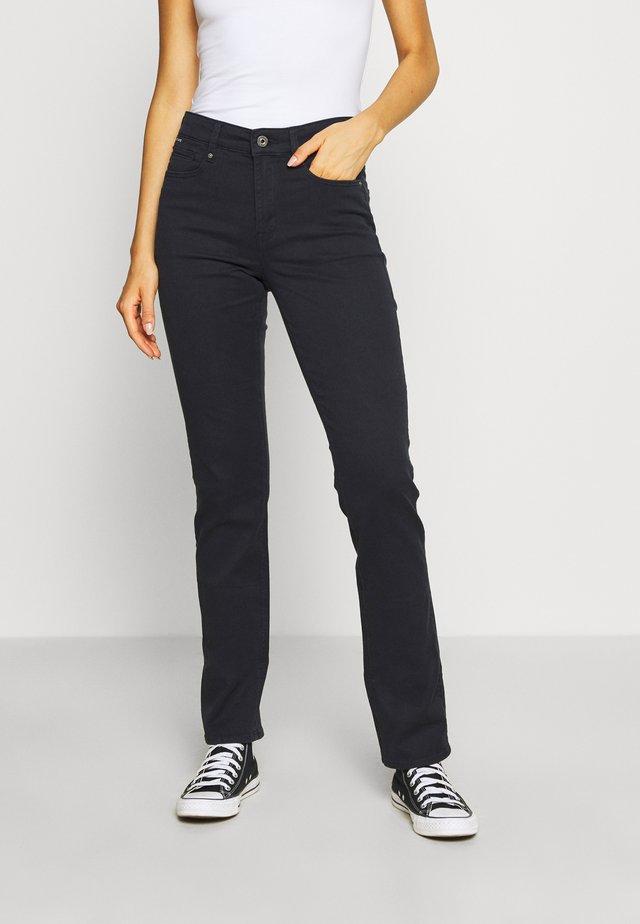 4311 MOTO HIGH STRAIGHT WMN - Jeans straight leg - mazarine blue