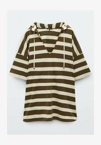 Massimo Dutti - Print T-shirt - khaki - 0