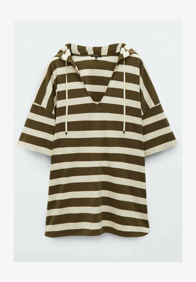 Massimo Dutti - Print T-shirt - khaki