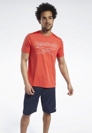 WORKOUT READY ACTIVCHILL T-SHIRT - Print T-shirt - red