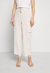 Cream - LORINE PANTS - Trousers - ote melange - 0