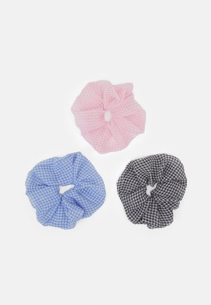 SCRUNCHIE 3 PACK - Hair styling accessory - black/blue/rose