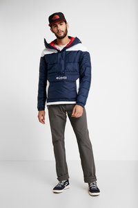 Columbia - LODGE PULLOVER JACKET - Vinterjakker - collegiate navy/white - 1