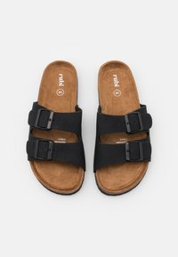 Rubi Shoes by Cotton On - REX DOUBLE BUCKLE SLIDE - Slippers - black - 4
