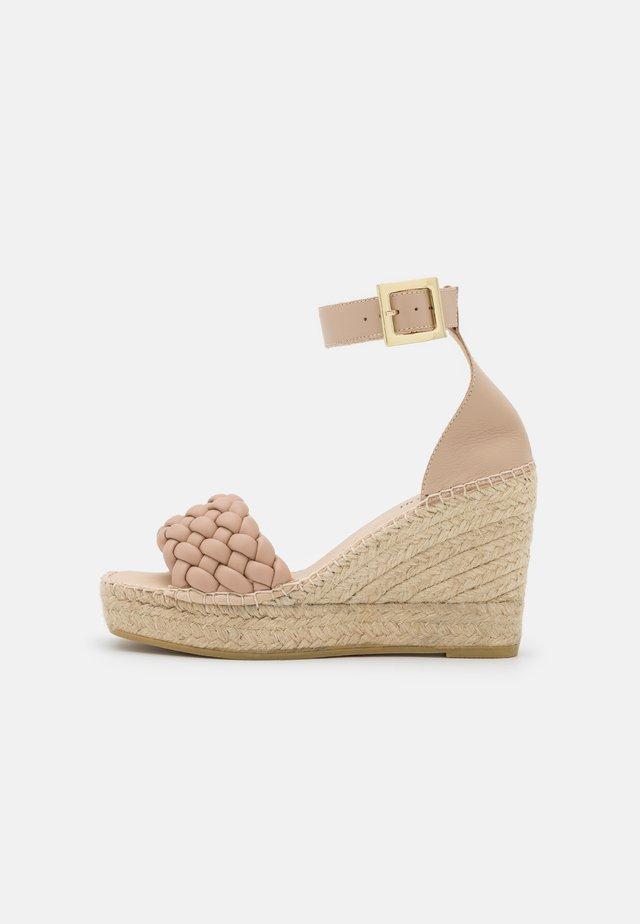Sandalen met plateauzool - nature