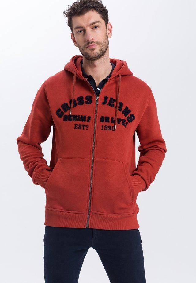 Zip-up hoodie - dunkelorange