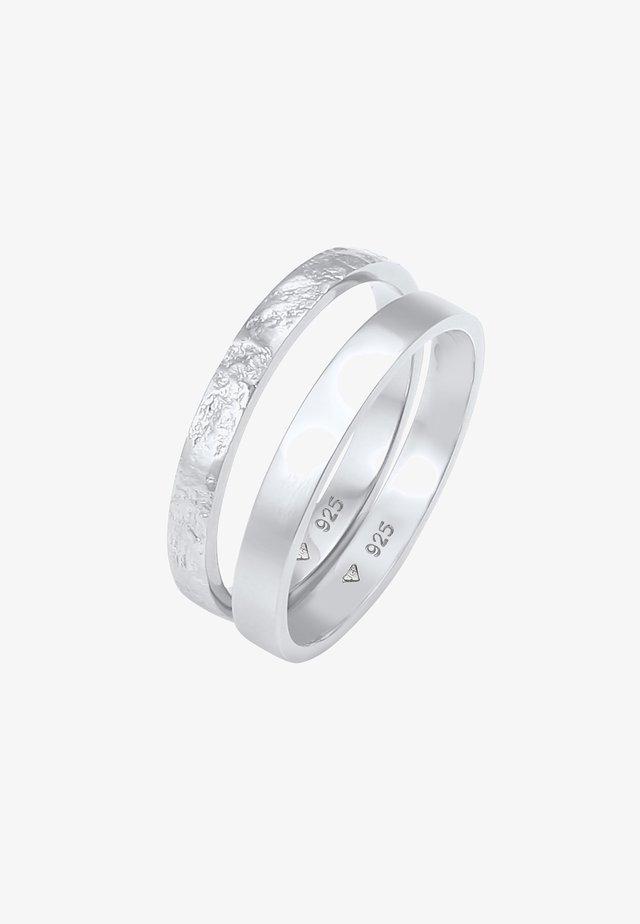 2ER SET - Prsten - silber
