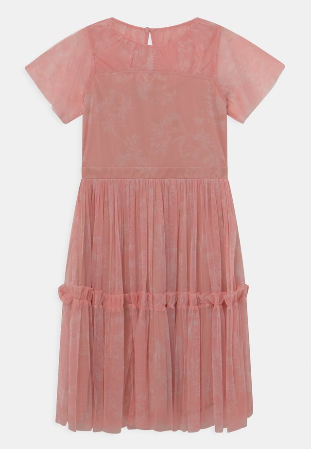 RUFFLE DRESS - Vestido de cóctel - pink shadow