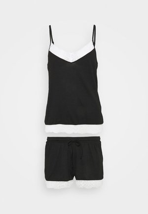 Pyjama set - black/off-white