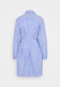 Liu Jo Jeans - ABITO CAMICIA STRIPES - Shirt dress - blue wave - 7