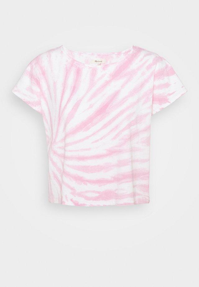 TIE DYE CAP SLEEVE BOXY TEE - Camiseta estampada - lavender mist