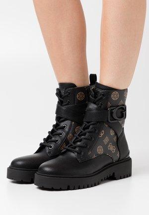 ORANA - Platform ankle boots - brown/ocra