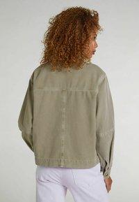 Oui - Denim jacket - khaki - 2