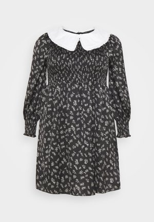 OVERSIZED COLLAR DRESS - Day dress - black