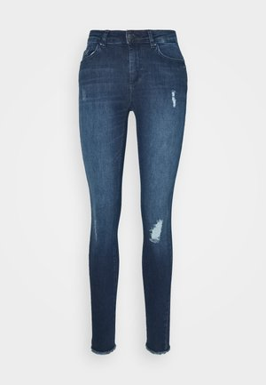 ONLBLUSH LIFE MID ANK RAW  - Jeans Skinny Fit - medium blue denim