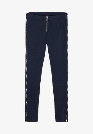 MIT ZIPPER - Leggings - Trousers - dark blue