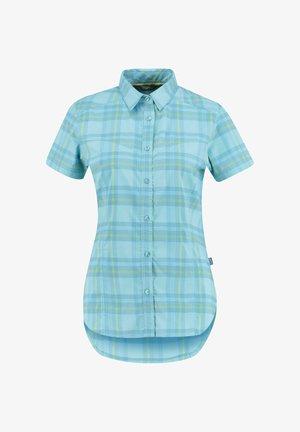 Button-down blouse - aqua