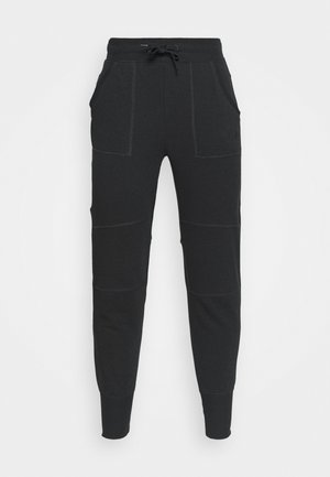 ONPMIKA 7/8 SLIM PANTS - Tracksuit bottoms - black melange