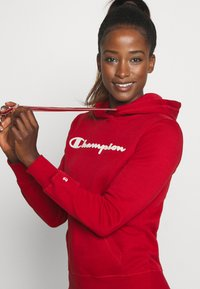 Champion - ESSENTIAL HOODED LEGACY - Mikina skapucí - dark red - 3