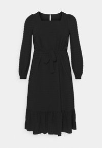 Pieces Curve - PCKUMA MIDI DRESS - Day dress - black - 5