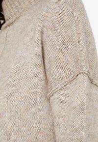 ONLY - ONLELAINA LONG - Stickad tröja - simply taupe melange - 4