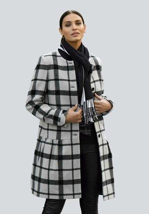 Classic coat - hellgrau schwarz