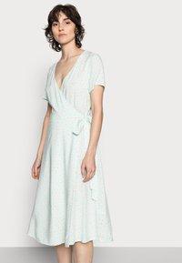 Anna Field - WRAP DRESS - Kjole - mint, white - 3