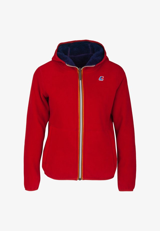 POLAR DOUBLE - Winter jacket - red vermilion-blue depths