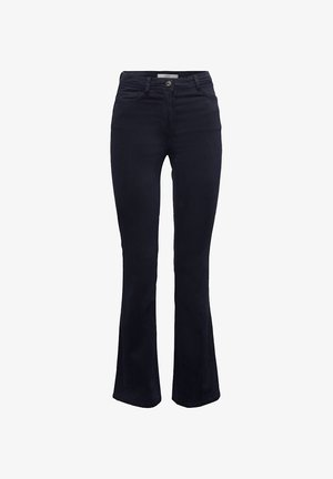 MIT ORGANIC COTTON - Bootcut jeans - navy