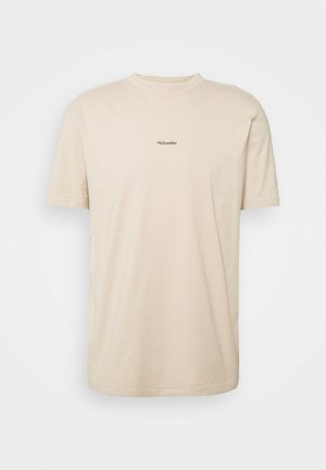 LIVE TEE - Jednoduché triko - beige