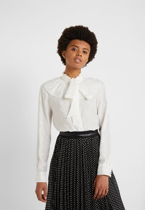 HORSE AND CARRIAGE GATHERED COLLAR BLOUSE - Blouse - white