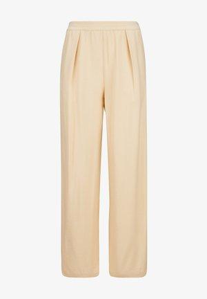 Trousers - ecru chine
