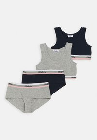 Buffalo - SET 2 PACK - Underwear set - grey melange/navy - 0