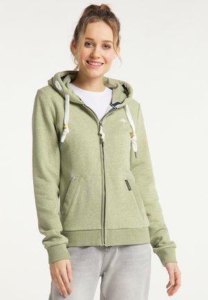 Zip-up sweatshirt - pastelloliv melange