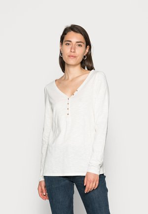 HENLEY - Long sleeved top - off white